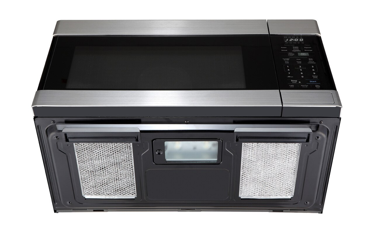 1.6 cu. ft. Stainless Steel Over-the-Range Microwave Oven (SMO1652DS) - bottom view with vents