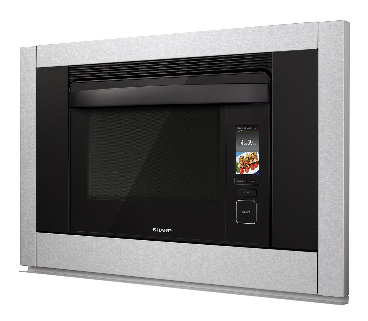 1.1 cu. ft. Supersteam+ Superheated Steam and Convection Built-in Wall Oven (SSC3088AS) – left angle view