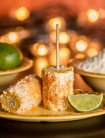 elote on a plate
