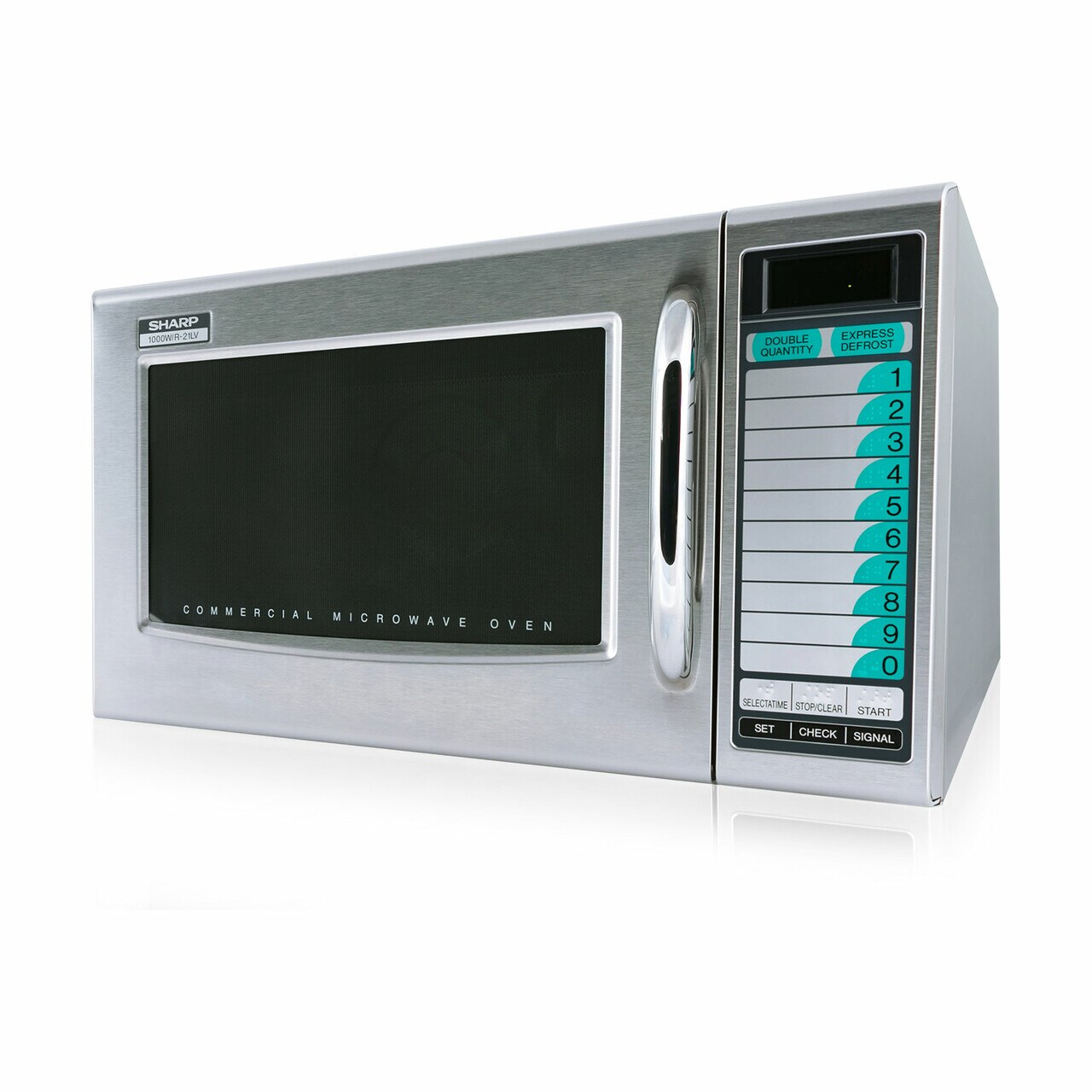 Medium Duty Commercial Microwave Oven with 1000 Watts (R21LVF) - left side view