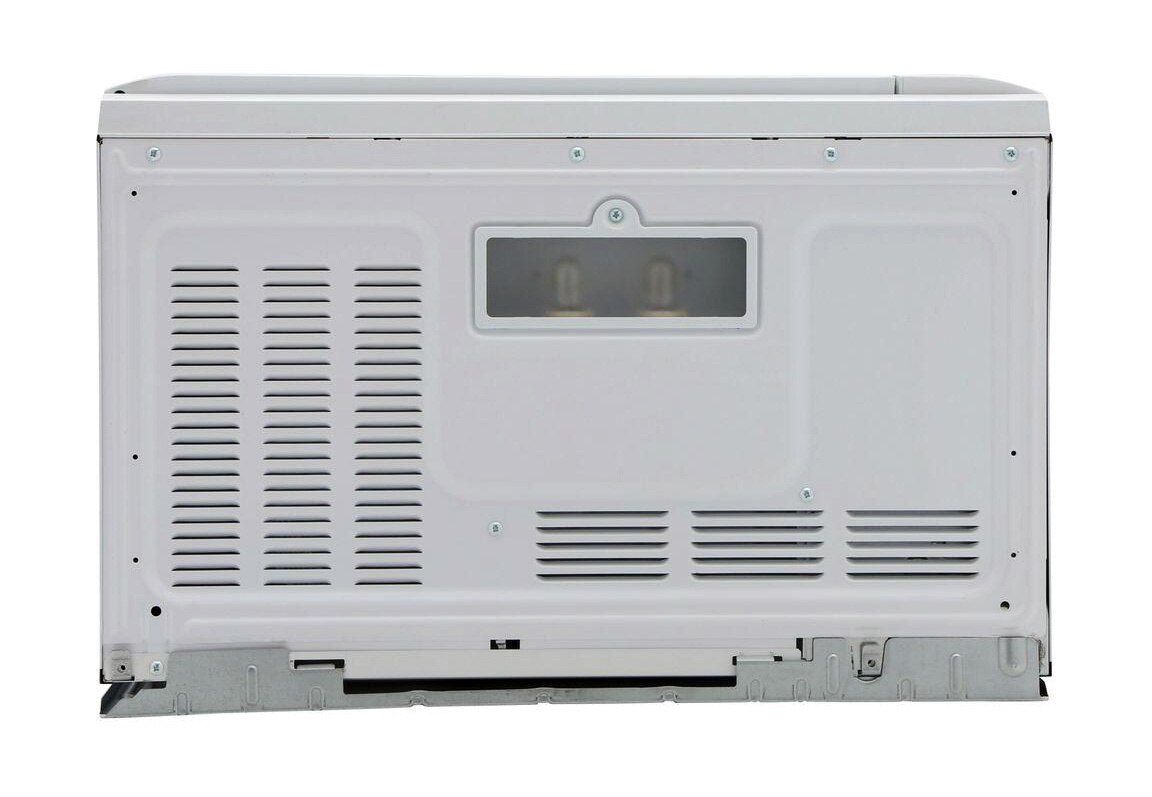 Sharp 1.5 cu. ft. Over-the-Counter Microwave in White (R1211TY) – back view