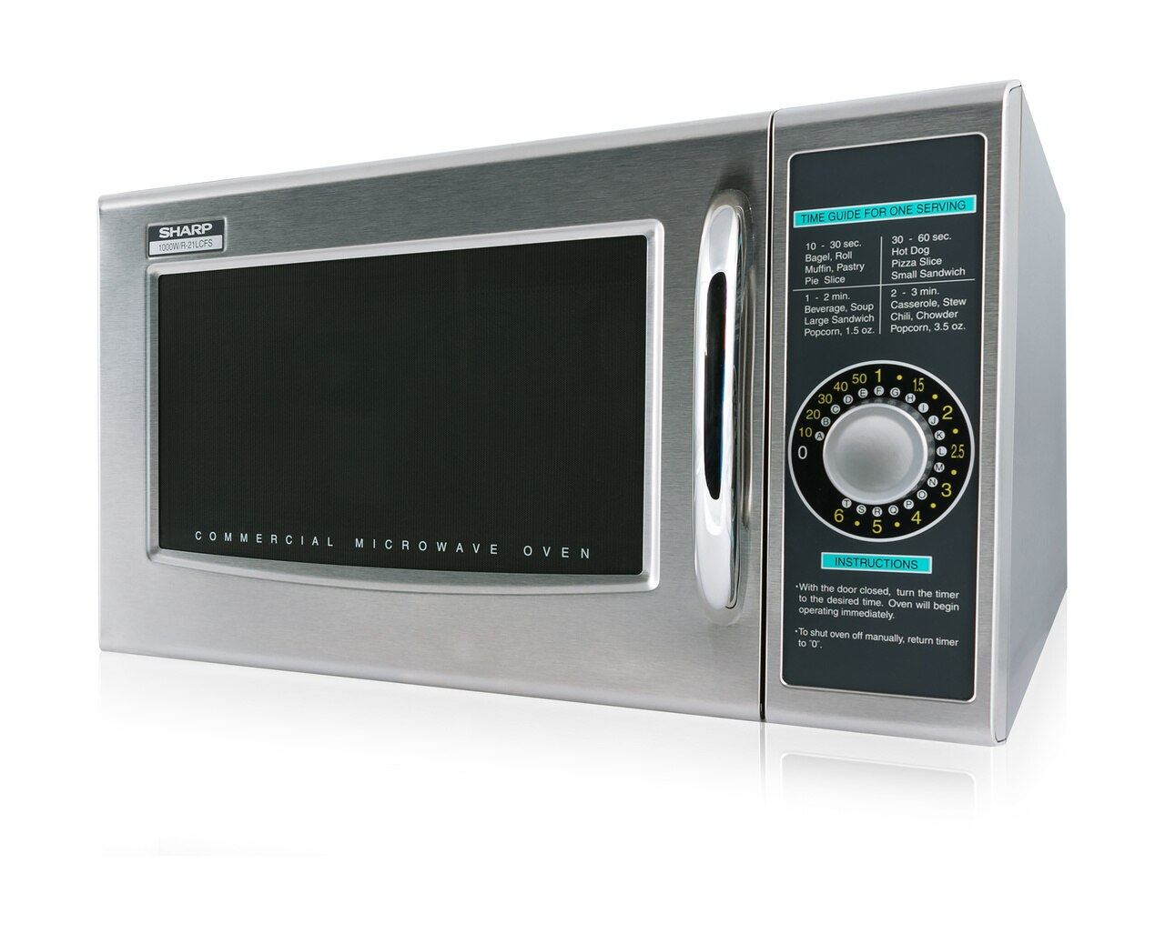 Medium-Duty Commercial Microwave Oven with 1000 Watts (R21LCFS) – left side view