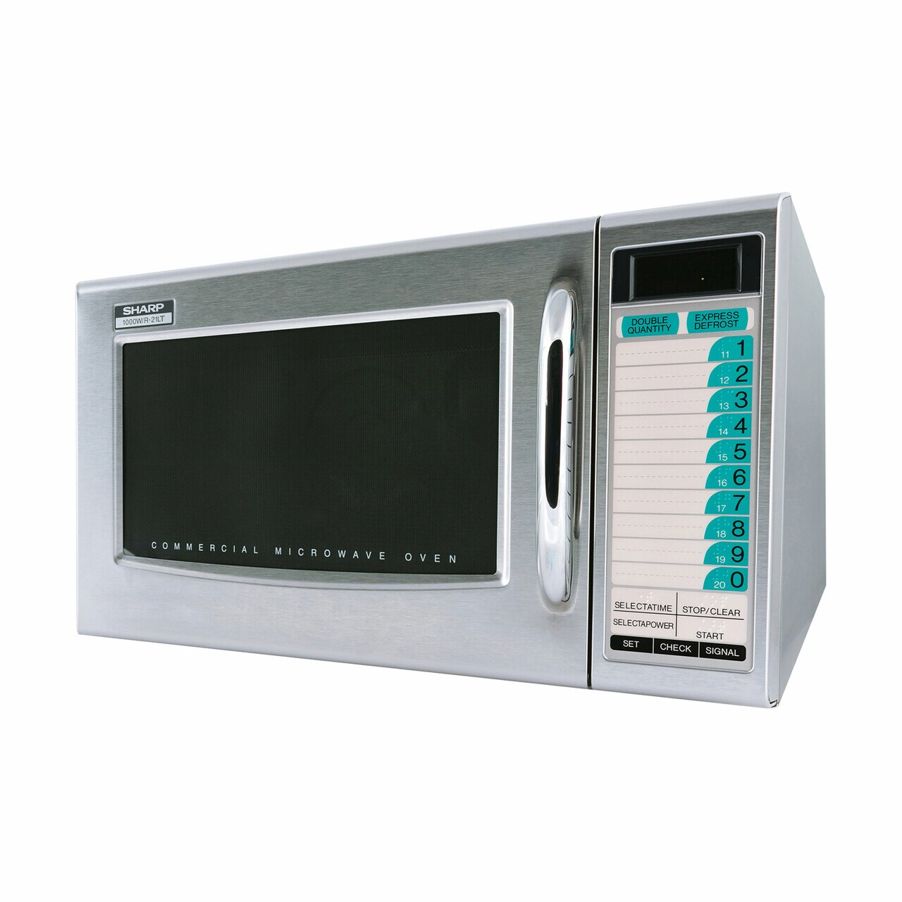 Medium Duty Commercial Microwave Oven with 1000 Watts (R21LTF) – left side view