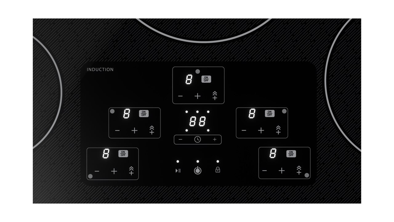 36-Inch Black Cooktop (SDH3652DB) – control panel