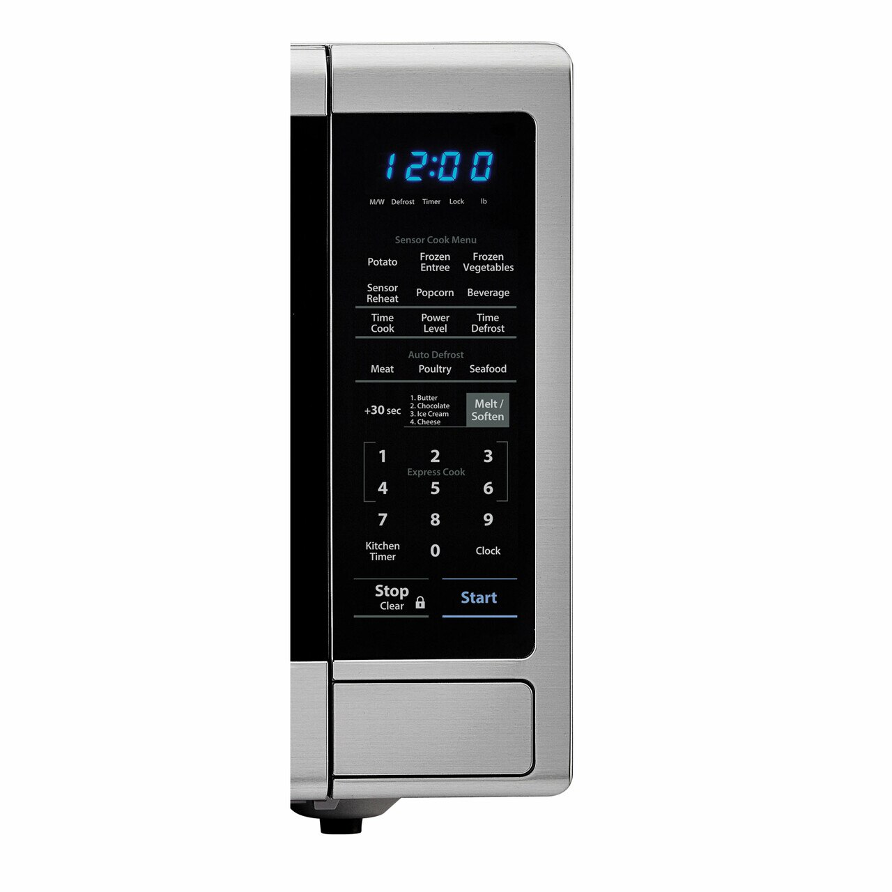 1.8 cu. ft. Sharp Stainless Steel Countertop Microwave (SMC1842CS) – control panel