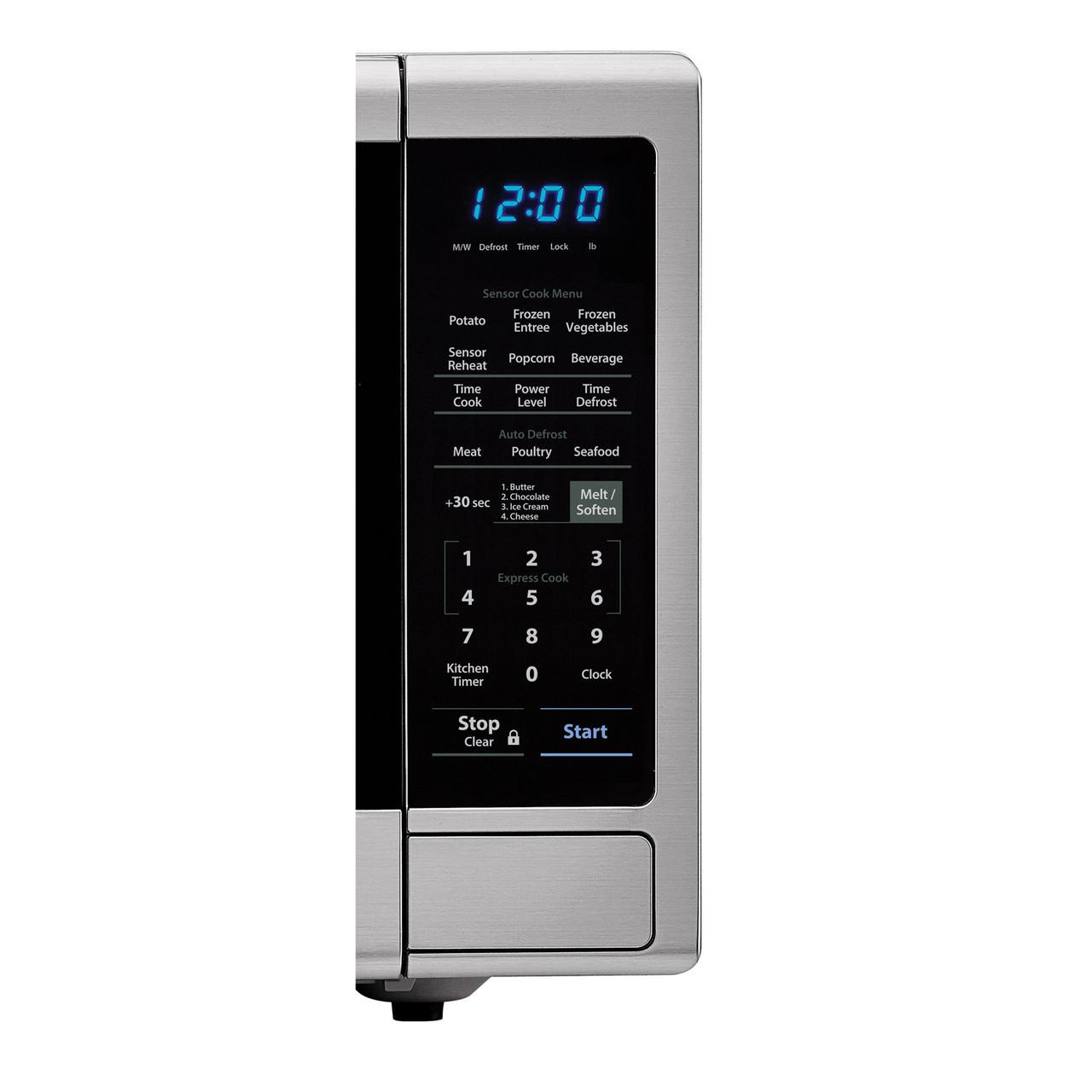 1.8 cu. ft. Sharp Stainless Steel Microwave with Black Mirror Door (SMC1843CM) – control panel