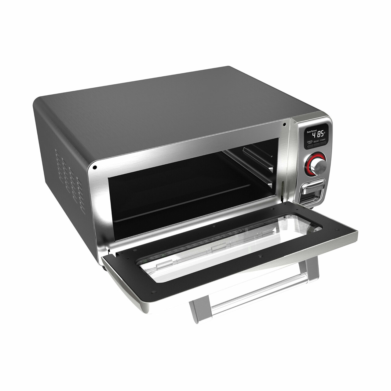 Sharp Superheated Steam Countertop Oven (SSC0586DS) – right angle view with door open