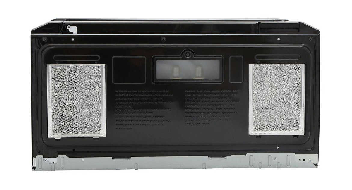 1.5 cu. ft. 1000W Stainless Steel Over-the-Range Microwave (R1514TY) – back view