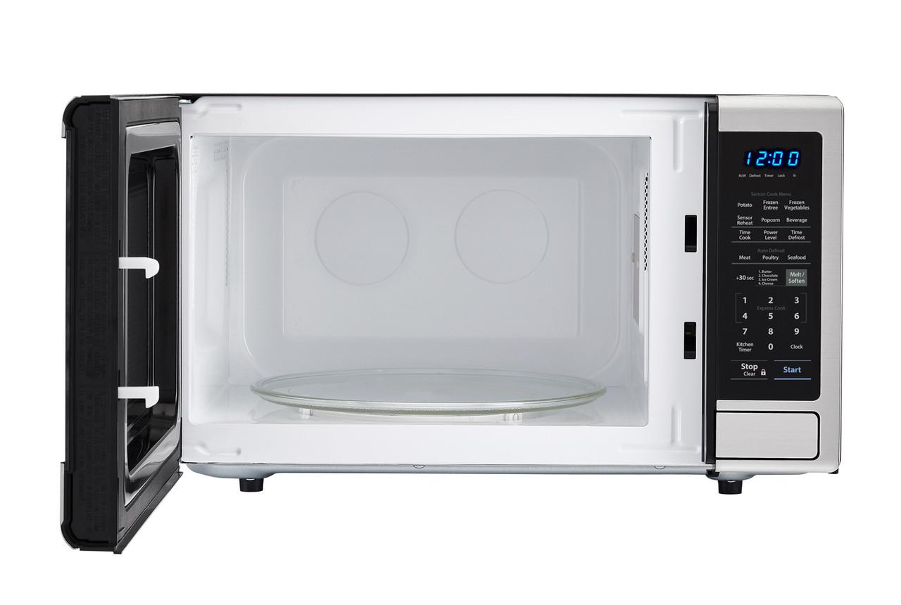 1.8 cu. ft. Stainless Steel Countertop Microwave (SMC1840CS) – front view with door open