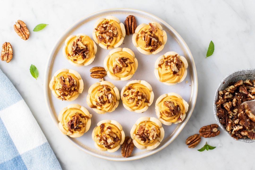 Mini Pumpkin Pies being prepared