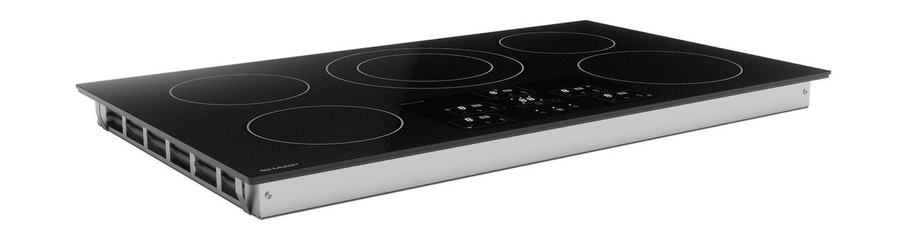 36-Inch Black Cooktop (SDH3652DB) – right side view