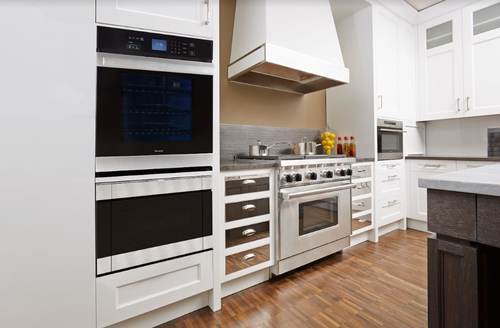 kitchen with Sharp's built-in appliances