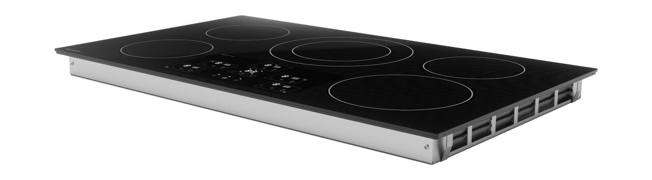36-Inch Black Cooktop (SDH3652DB) – left side view