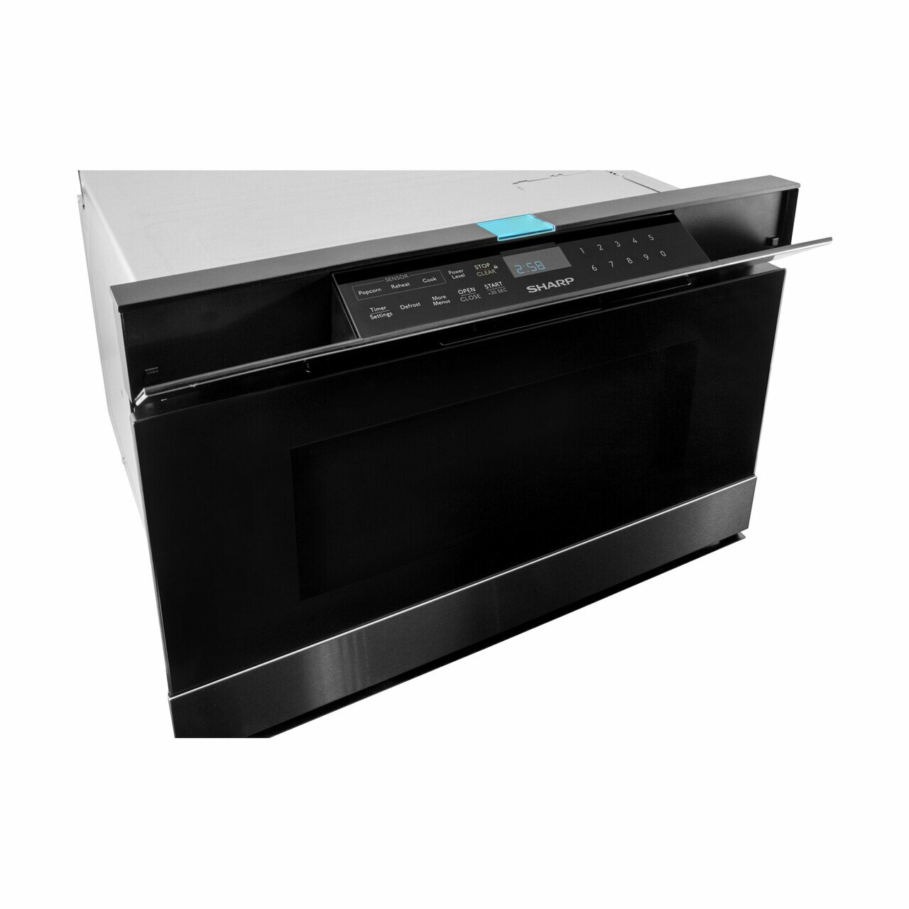 Sharp Easy Wave Open Microwave Drawer (SMD2480CS) - side view
