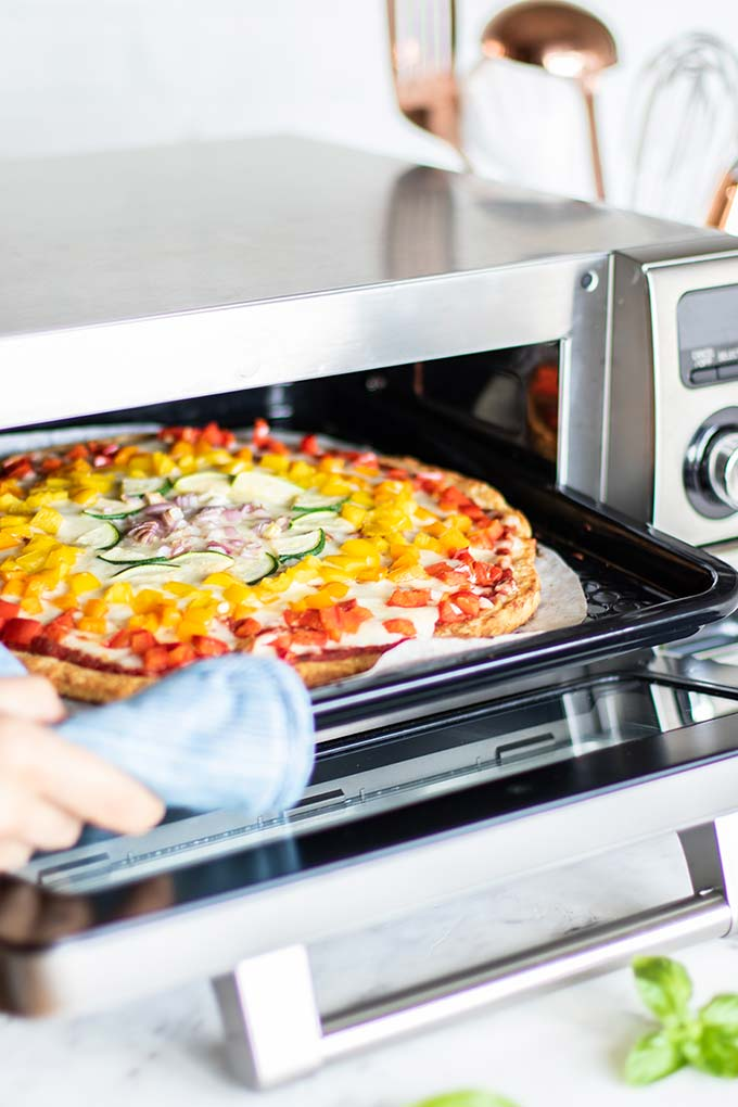 Pizza in a Sharp Supersteam Countertop Oven.