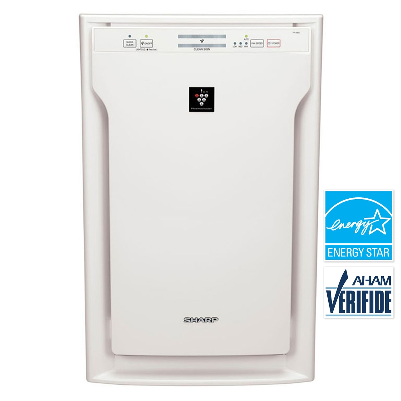 Sharp HEPA Air Purifier with Plasmacluster® Ion Technology for Extra-Large Rooms (FPA80UW)