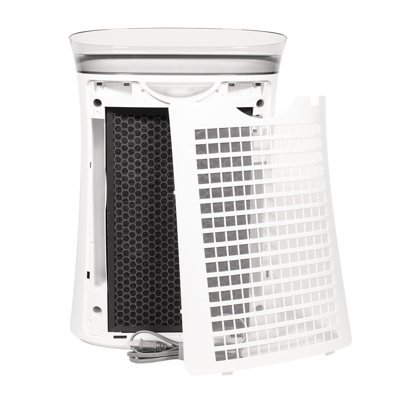 Sharp True HEPA Air Purifier for Medium-Sized Rooms (FPK50UW) – Back View of Three-Stage Filter System