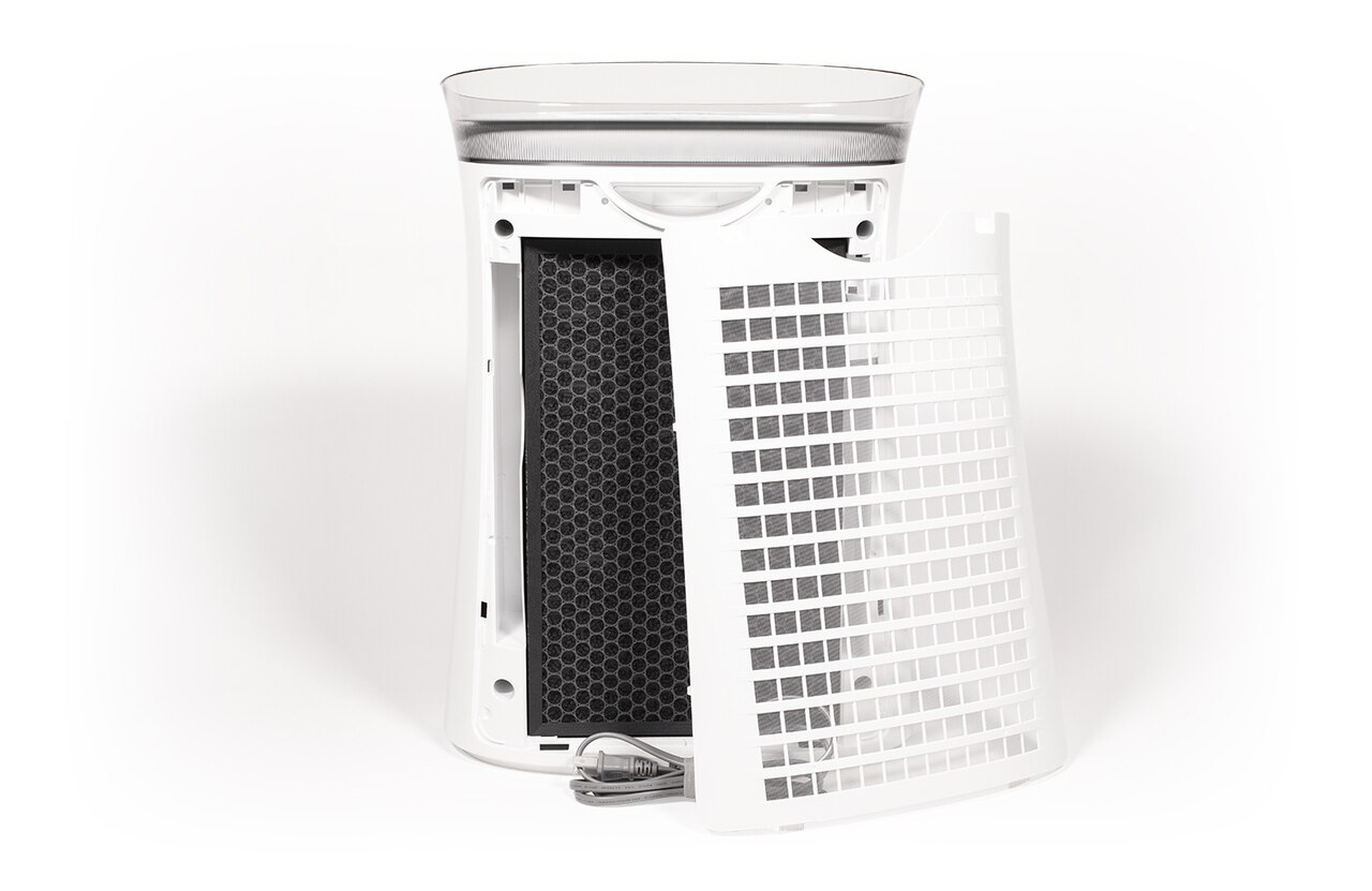 View of Sharp FPK50UW Air Purifier with FZK50DFU Active Carbon Replacement Filter Installed