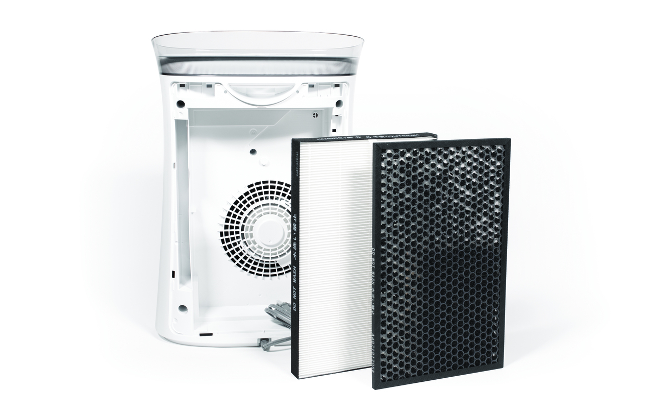 Back View of Sharp FPK50UW Air Purifier with FZK50HFU True HEPA Replacement Filter