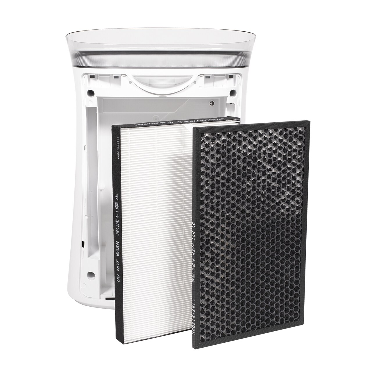 Sharp Air Purifier for Medium-Sized Rooms (FPK50UW) – back view with True HEPA filter and Active Carbon Filter