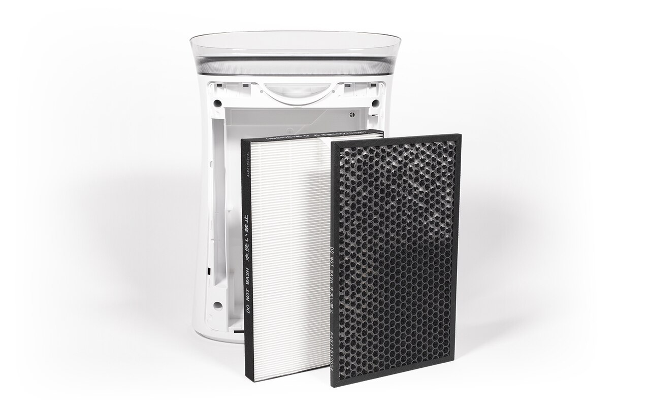View of Sharp FPK50UW Air Purifier with FZK50DFU Active Carbon Replacement Filter