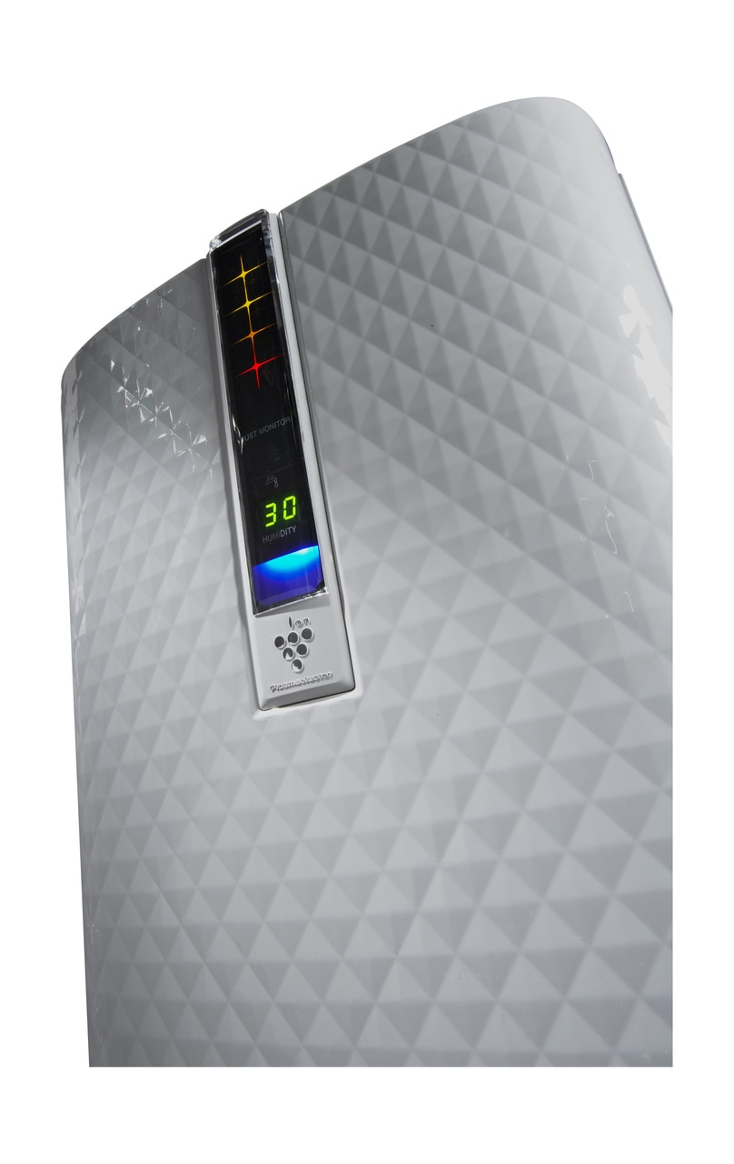 Sharp Plasmacluster® Air Purifier with Humidifying Function for Medium Rooms (KC850U) – low angle view