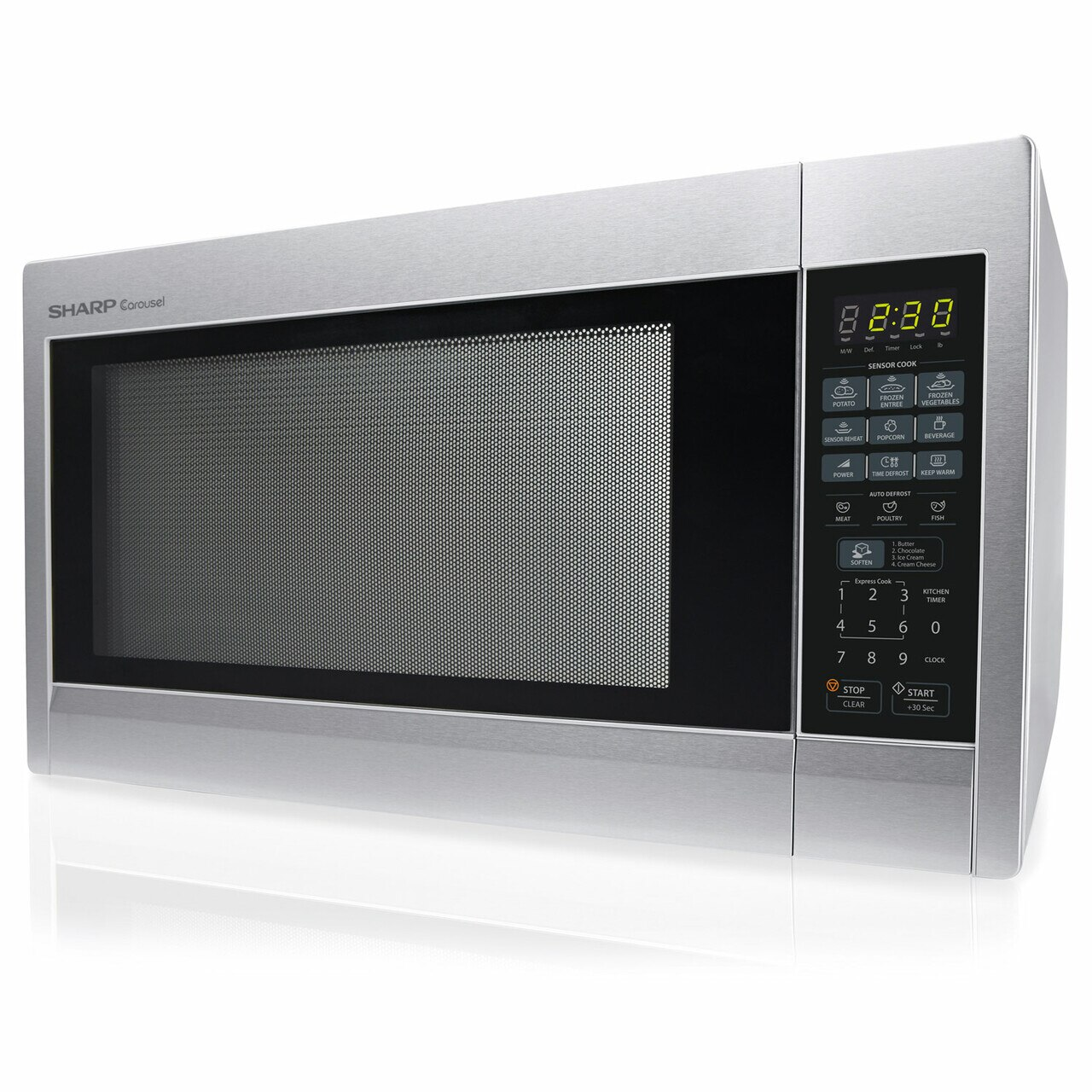 2.2 cu. ft. Stainless Steel Countertop Microwave (R651ZS) – left side view