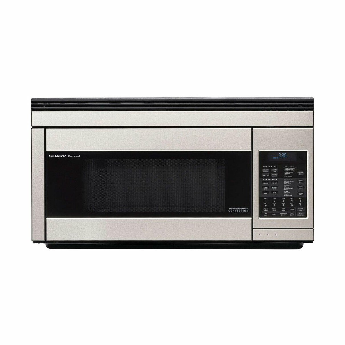 1.1 cu. ft. 850W Sharp Stainless Steel Over-the-Range Convection Microwave (R1874TY)