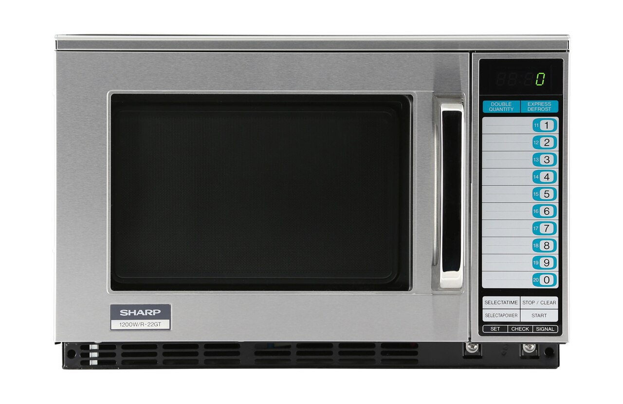 Sharp R22GTF Heavy-Duty Commercial Microwave Oven with 1200 Watts