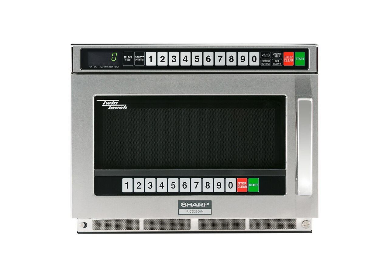 Sharp Twintouch™ 2200 Watt Commercial Microwave Oven with Dual TouchPads (RCD2200M)