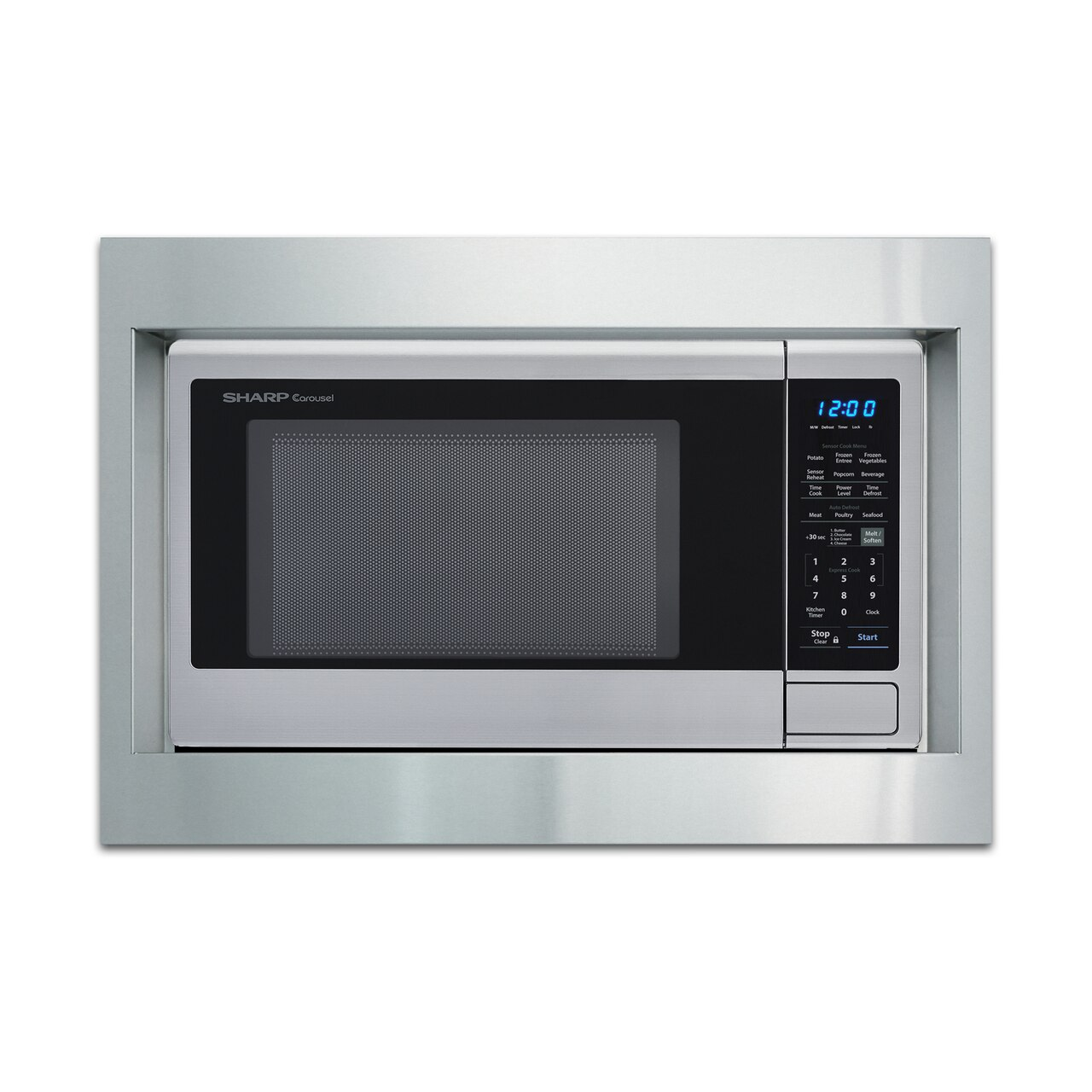 """Sharp 27"""" Built-in Trim Kit (RK49S27) on SMC1842CS Microwave.  *Microwave not included"""