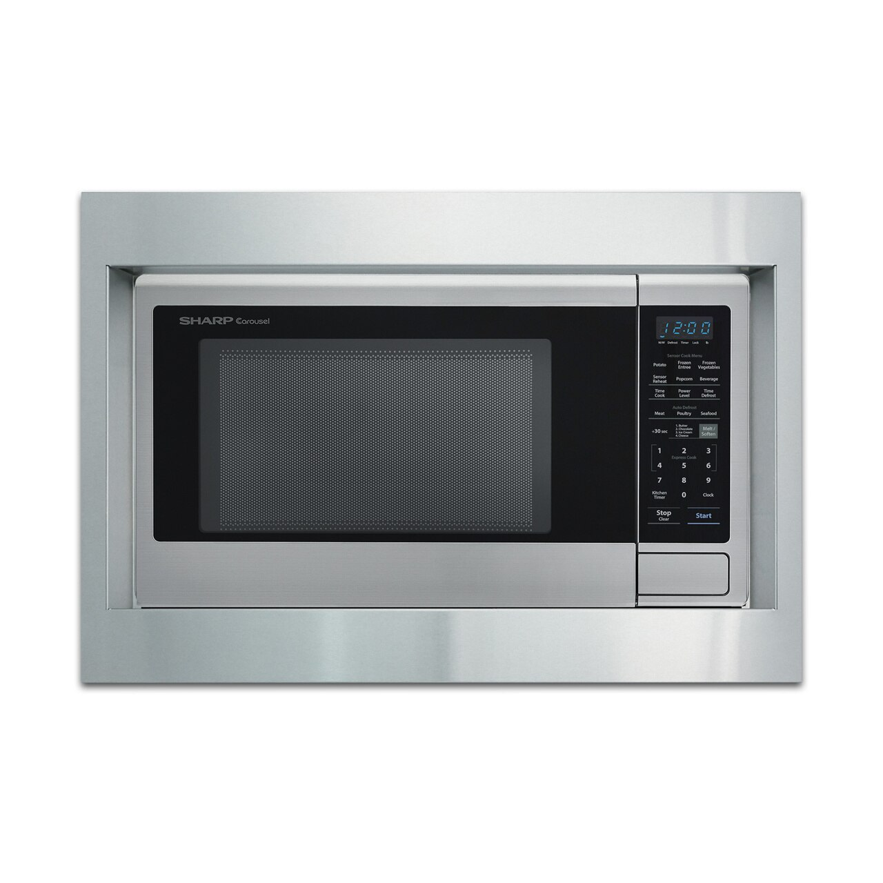 """Sharp 27"""" Built-in Trim Kit (RK56S27) on SMC2242DS Microwave.   *Microwave not included"""