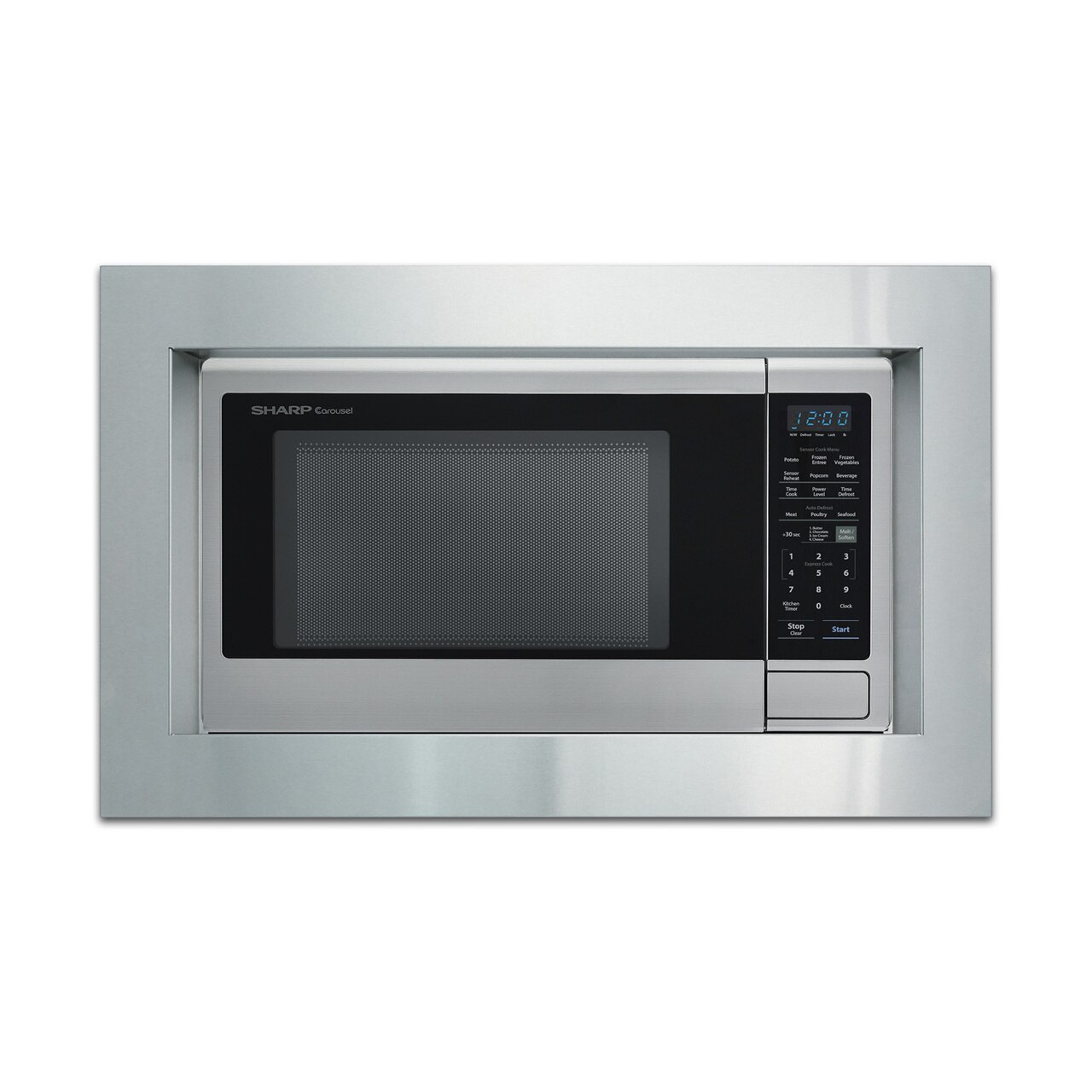 """Sharp 30"""" Built-in Trim Kit (RK56S30) on SMC2242DS Microwave.  *Microwave not included"""