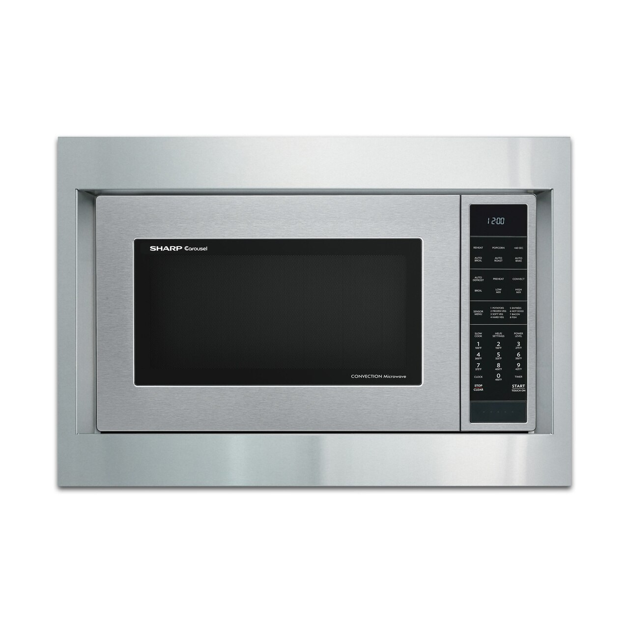 """Sharp 27"""" Built-in Trim Kit (RK94S27) on SMC1585BS Microwave.   *Microwave not included"""