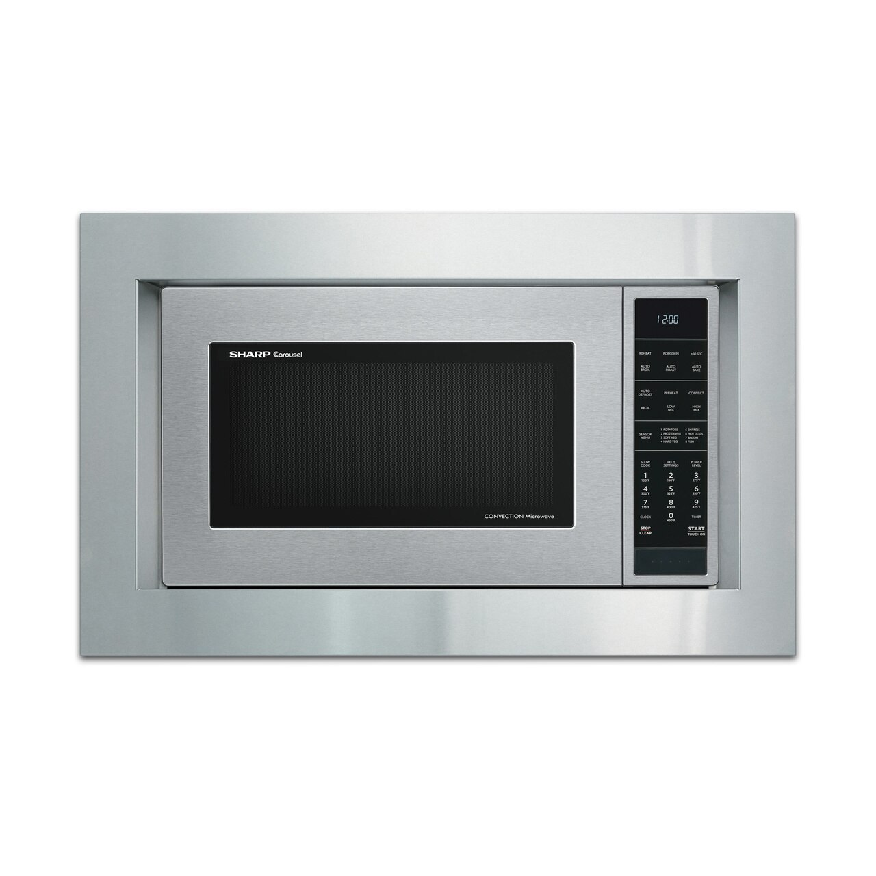 "Sharp 30"" Built-in Trim Kit (RK94S30) on SMC1585BS Microwave"