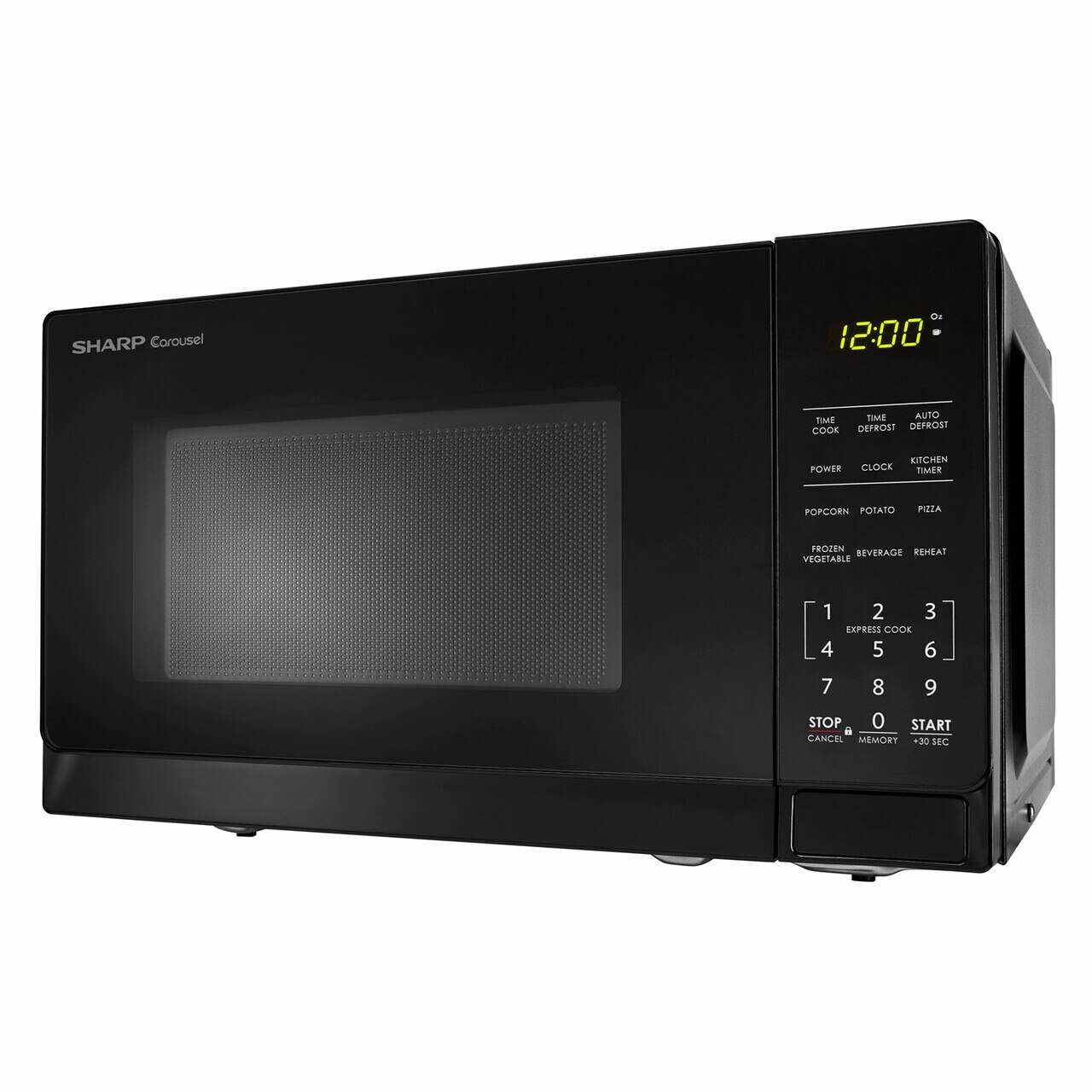 0.7 cu. ft. Sharp Black Countertop Microwave (SMC0710BB) – left side view