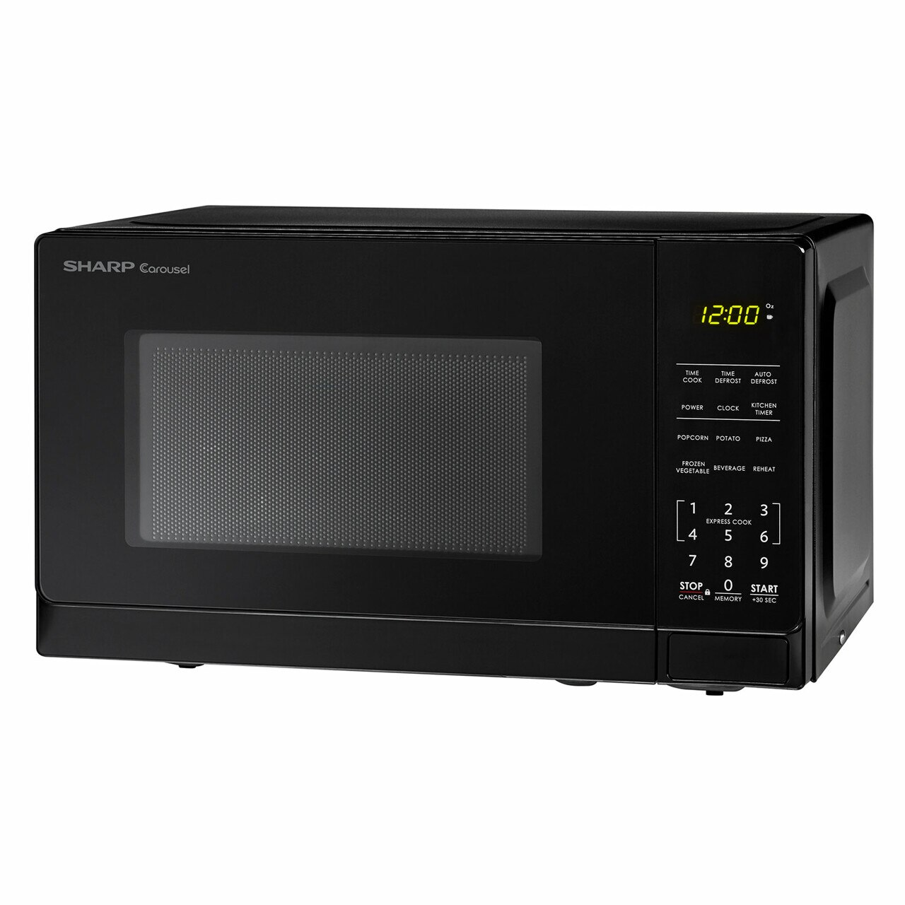 0.7 cu. ft. Sharp Black Countertop Microwave (SMC0710BB) – left angle view