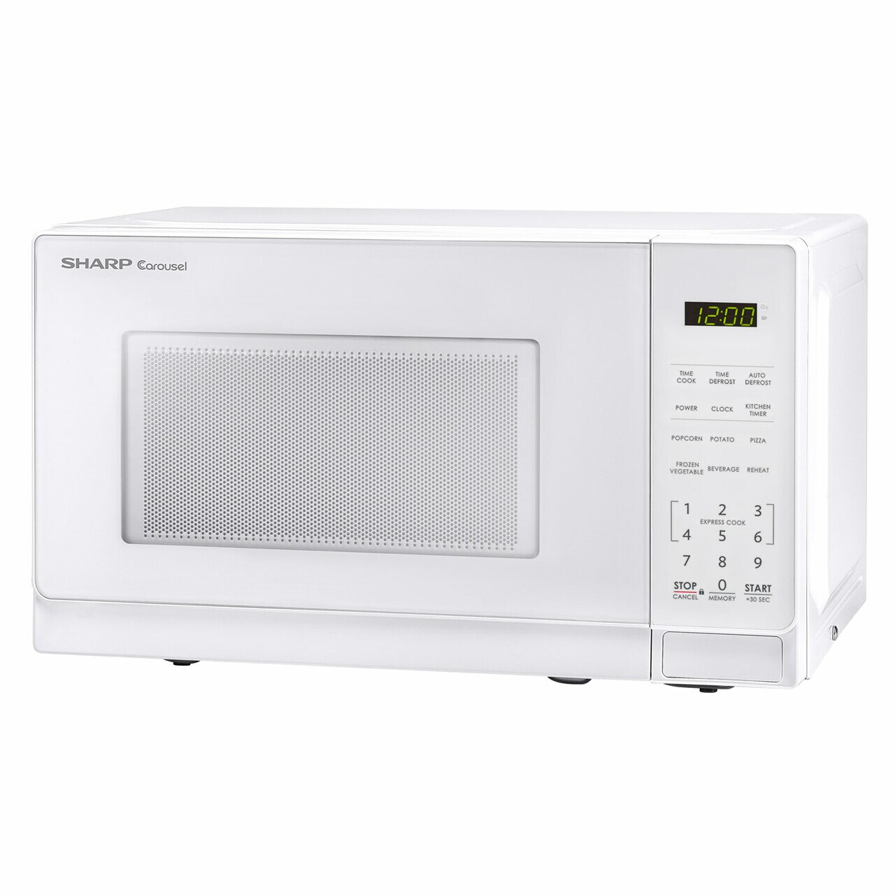 0.7 cu. ft. Sharp White Countertop Microwave (SMC0710BW) – left angle view
