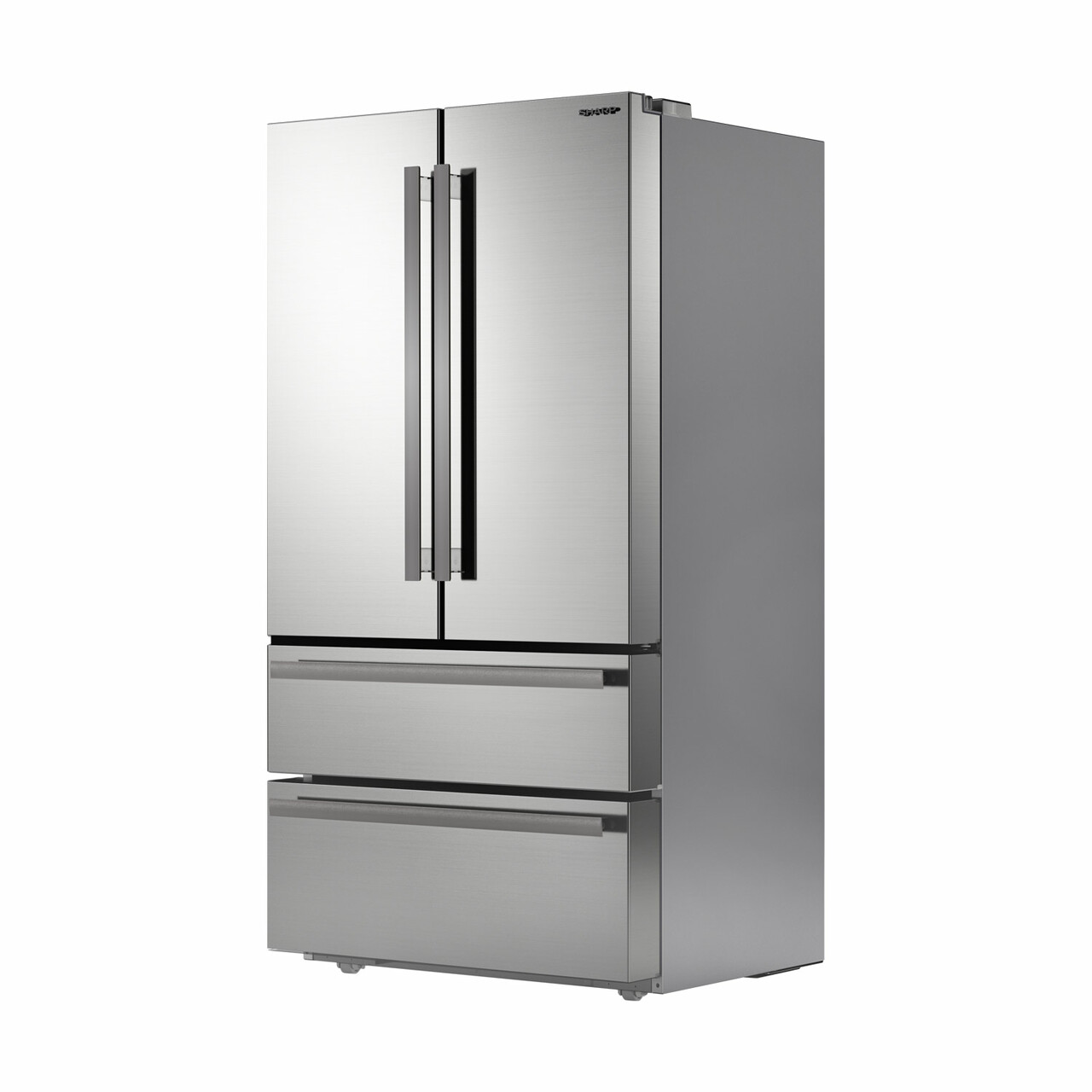 Sharp French 4-Door Refrigerator (SJG2351FS) – left angle view