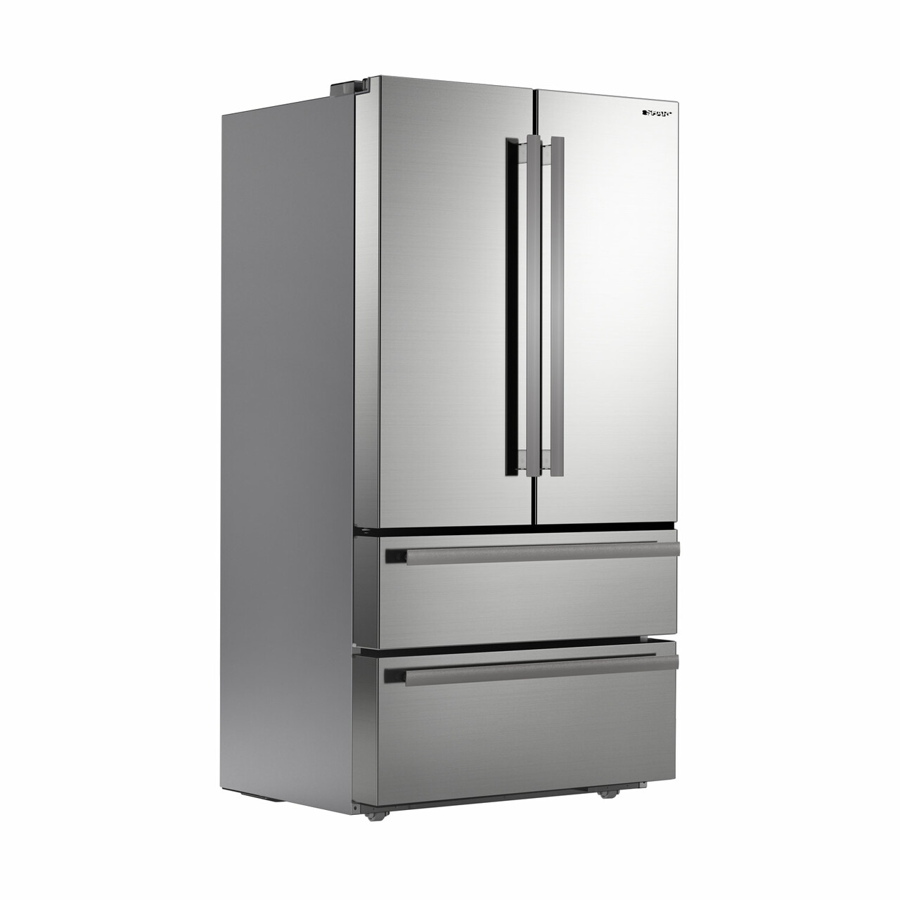 Sharp French 4-Door Refrigerator (SJG2351FS) – right angle view