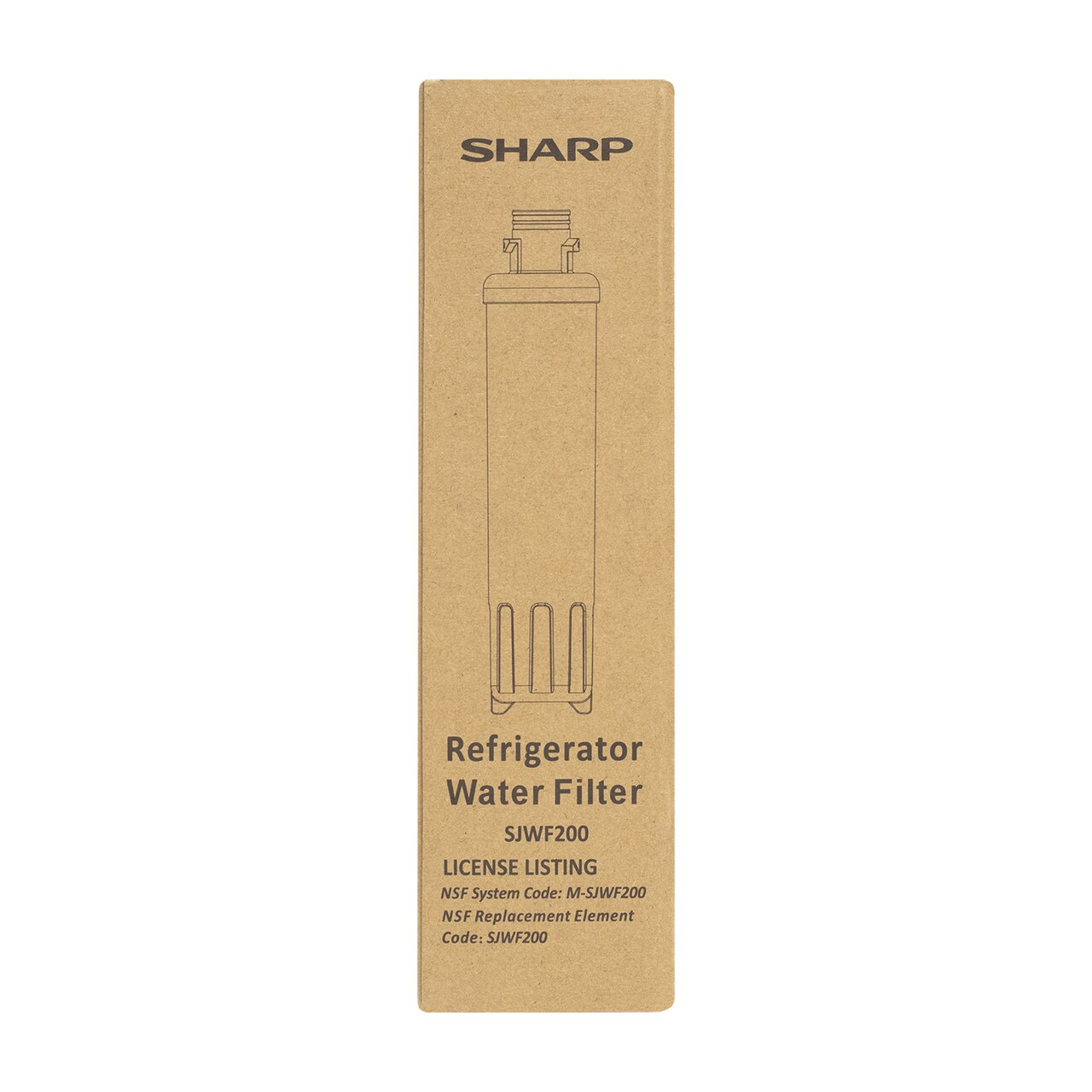 Box for Replacement Water Filter for Sharp SJG2254FS Refrigerator (SJWF200)