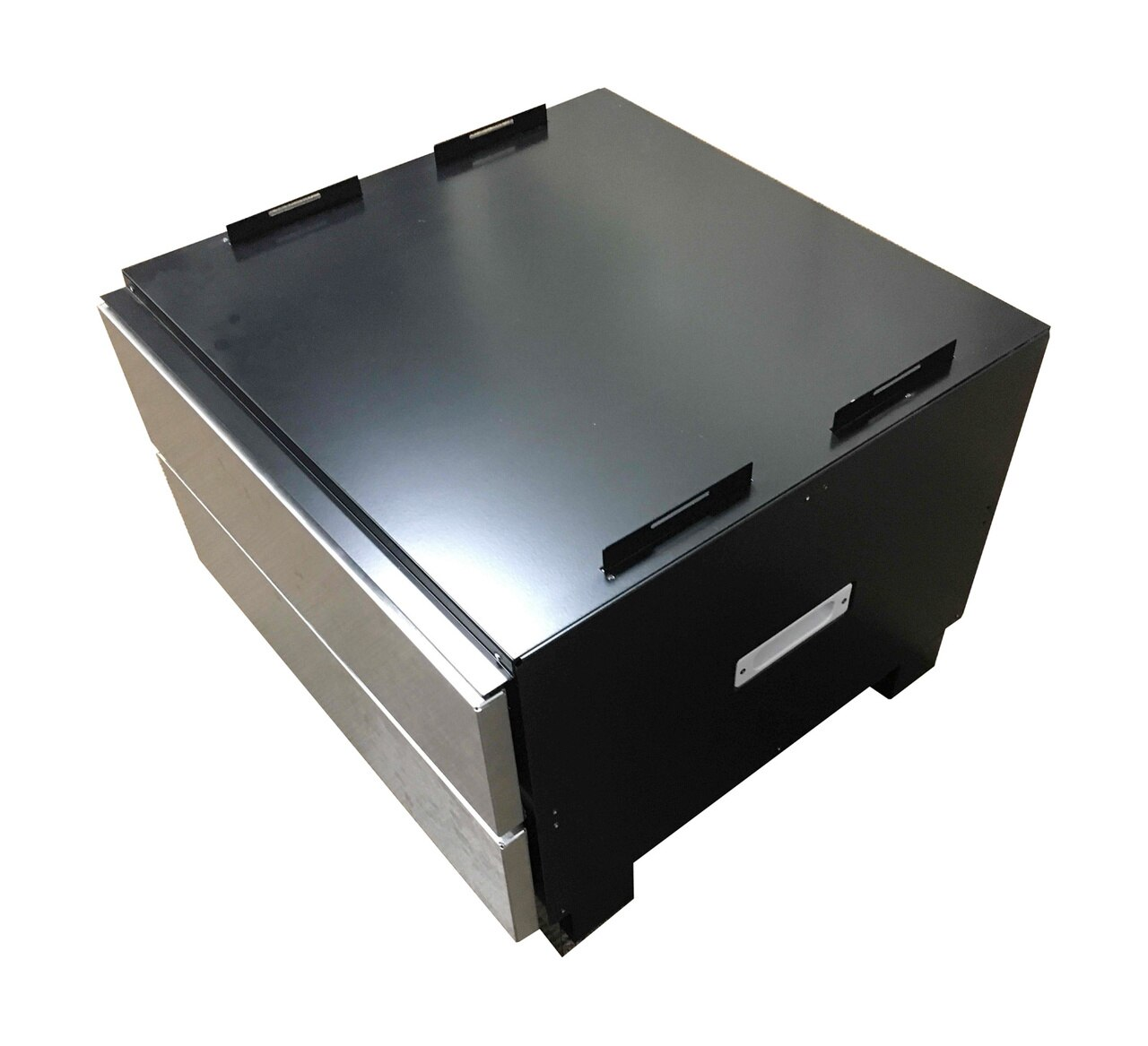 """24"""" Under the Counter Microwave Drawer™ Oven Pedestal (SKMD24U0ES) – Overhead, right angle view"""