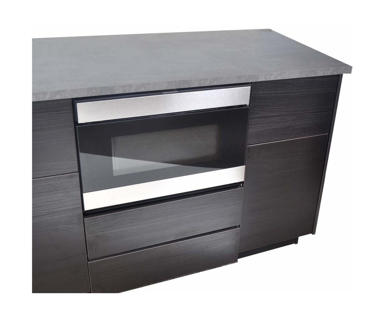 "24"" Microwave Drawer ™ Oven Pedestal (SKMD24U0ES) Installed Under the Counter"