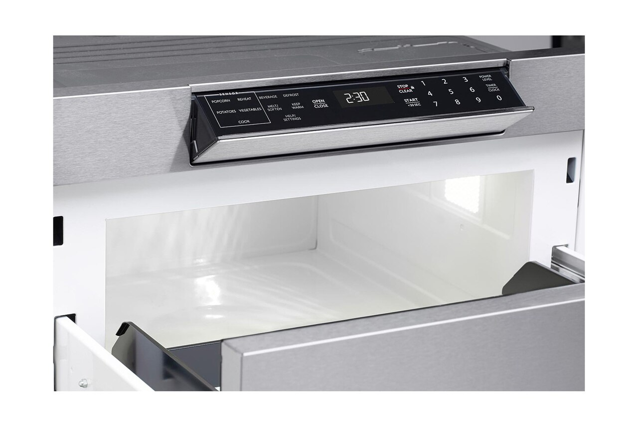 24 in. Sharp Stainless Steel Microwave Drawer (SMD2470AS) – hidden control panel