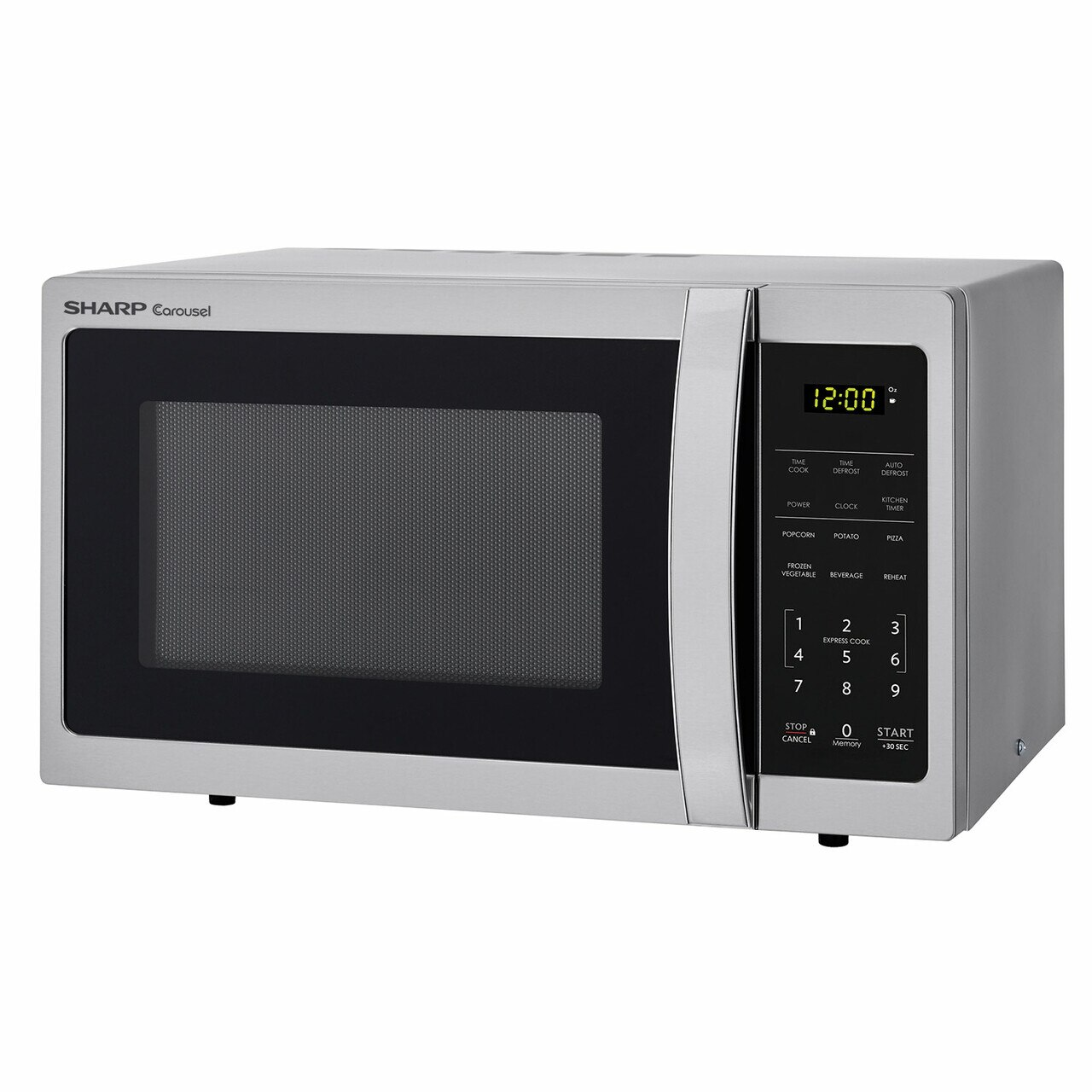 0.7 cu. ft. Sharp Stainless Steel Countertop Microwave (SMC0711BS) – left angle view