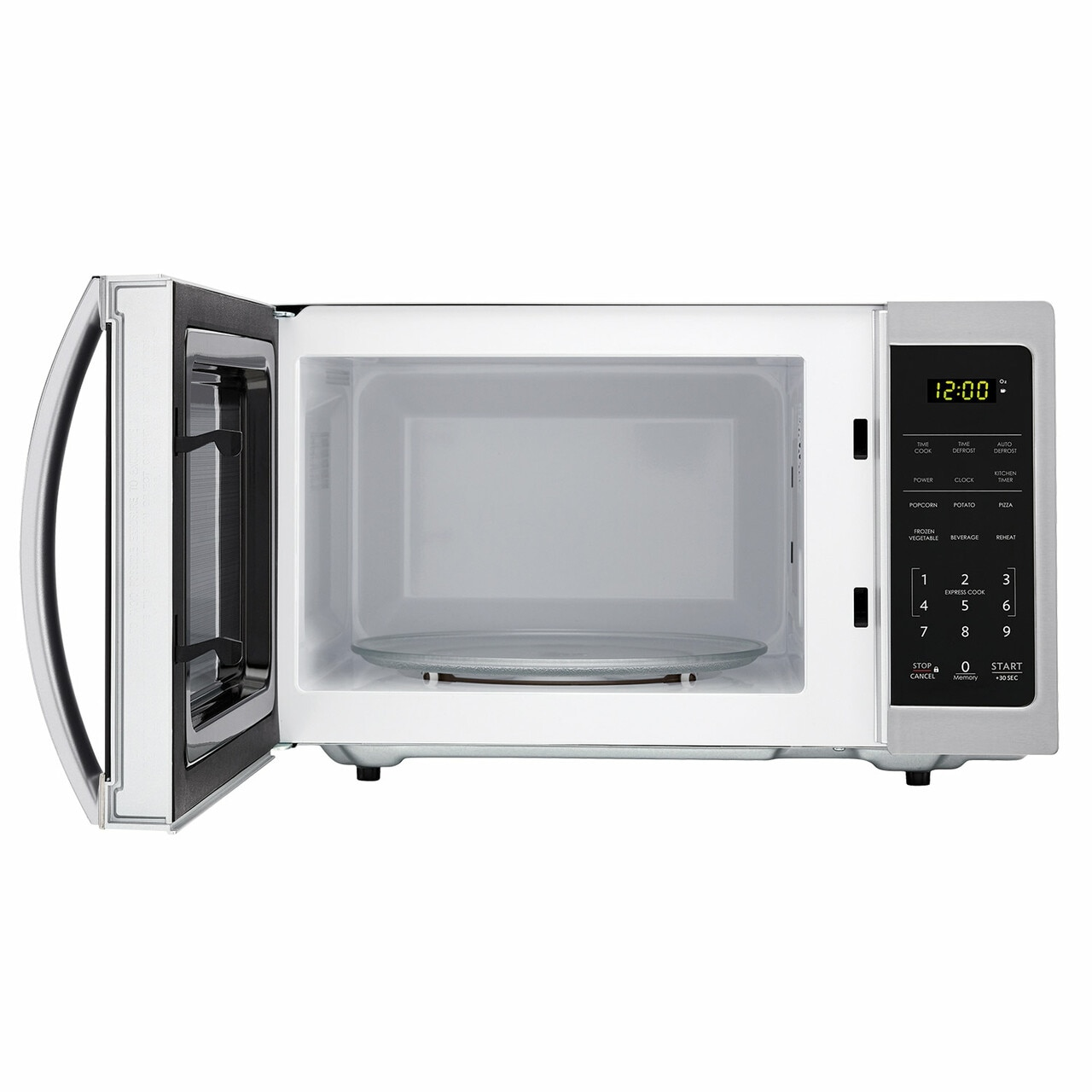 0.7 cu. ft. Sharp Stainless Steel Countertop Microwave (SMC0711BS) – front view with door open