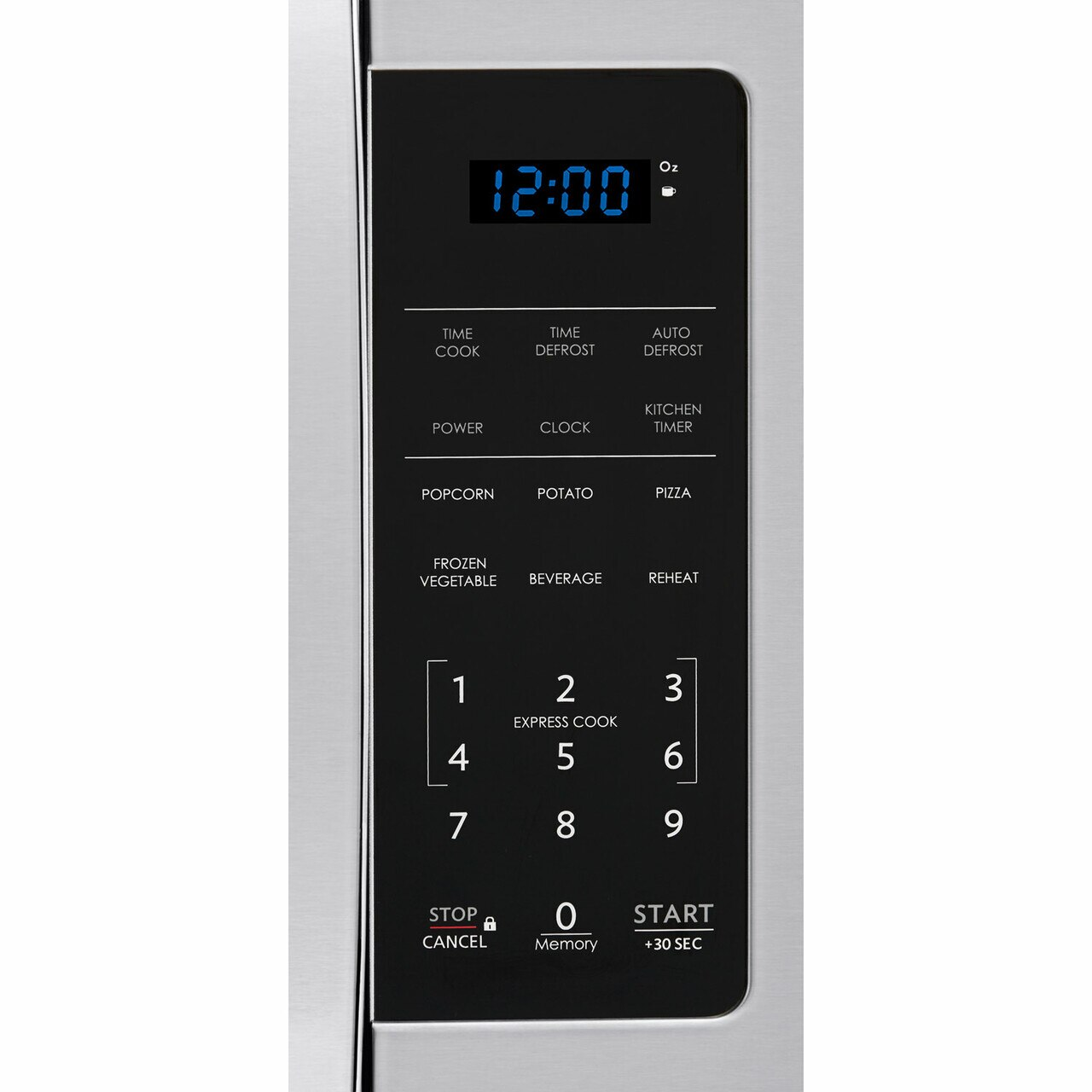 0.9 cu. ft. 900W Sharp Stainless Steel Carousel Countertop Microwave (SMC0912BS) – control panel