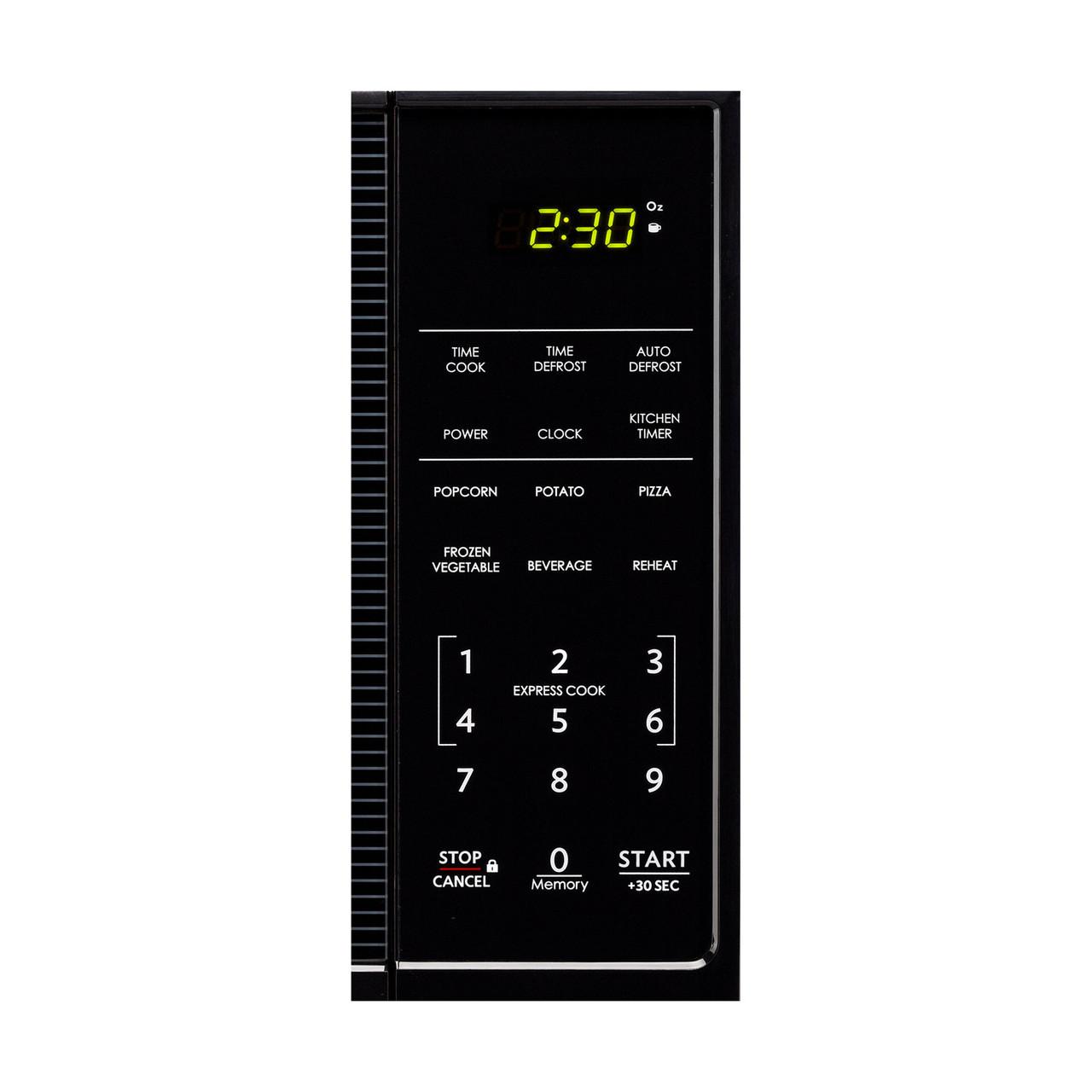 1.1 cu. ft. Sharp Black Carousel Countertop Microwave (SMC1111AB) – control panel