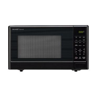 1.1 cu. ft. Sharp Black Carousel Countertop Microwave (SMC1111AB)