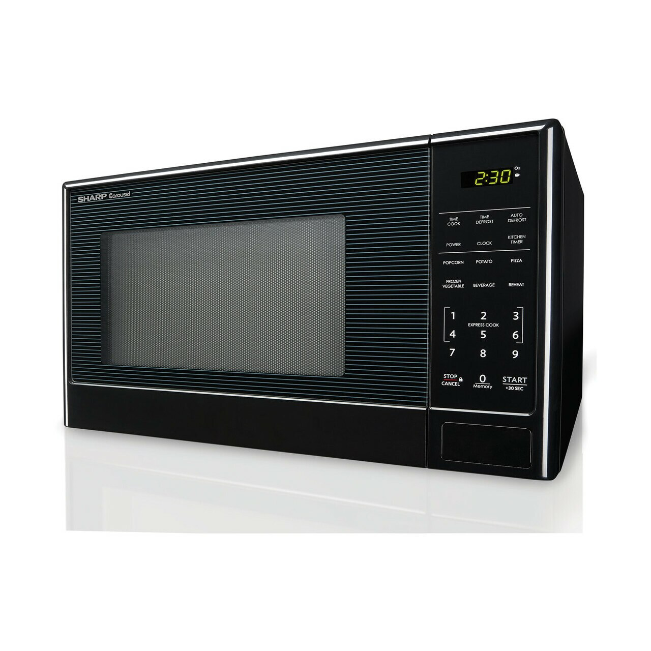 1.1 cu. ft. Sharp Black Carousel Countertop Microwave (SMC1111AB) – left side view